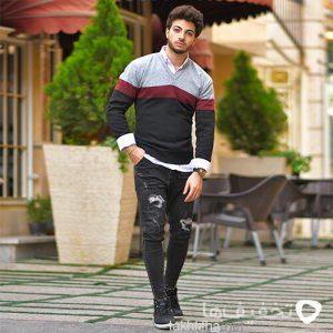 پليور بافت مردانه مدل Paolo