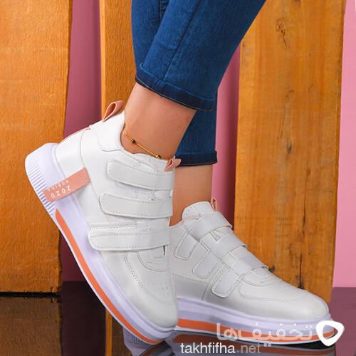 كفش ساقدار دخترانه سفيدمدلRobika 2020