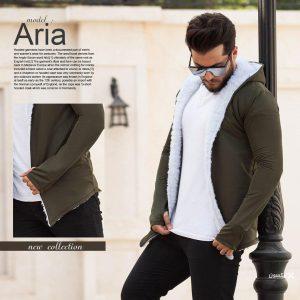 هودی خزدار مردانه مدل Aria