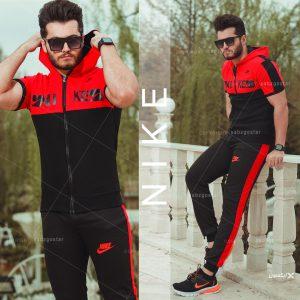 ست تیشرت و شلوار زیپ دار مردانه Nike مدلHero(قرمز)