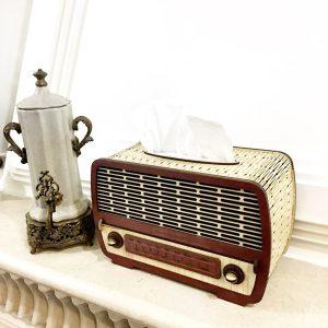 جا دستمال کاغذی چوبی طرح رادیو 17
