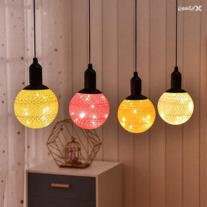 لامپ های توپی دکوراتیو با روکش کتان 1