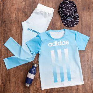 ست تیشرت و شلوار زنانه Adidas مدل 13678