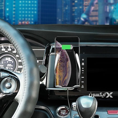پایه نگهدارنده و شارژر وایرلس اتومبیل