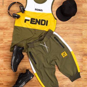 ست رکابی و شلوارک مردانه Fendi مدل 14704