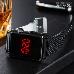 ساعت LED صفحه لمسی طرح Apple