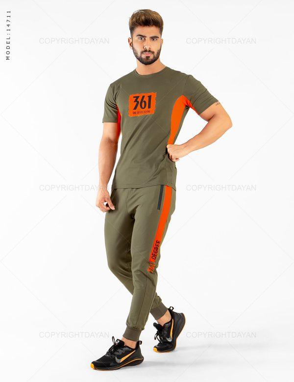 ست تیشرت و شلوار مردانه 361 درجه مدل 14711