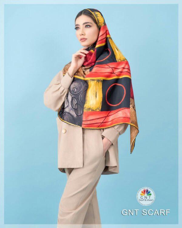روسری ابریشم ساتن مدل ۲۰۹۷۰